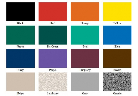 Square Single Post Expanded Table; Expanded Metal Style Sample; LC Color  Swatches
