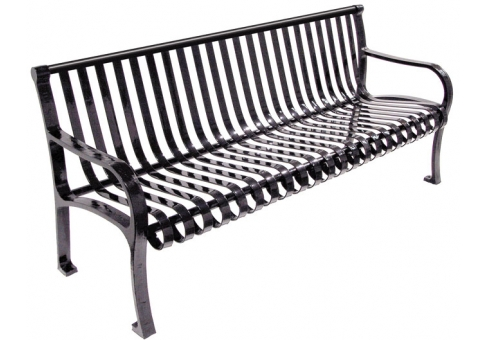 Oglethorpe Park Bench 6ft on large playground park equipment