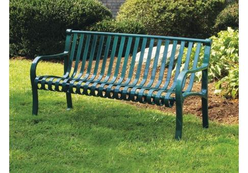 4 Foot Oglethorpe Park Bench Commercial Site Furnishings