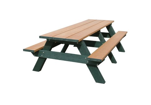 8 foot standard recycled plastic picnic table commercial for 12 foot picnic table