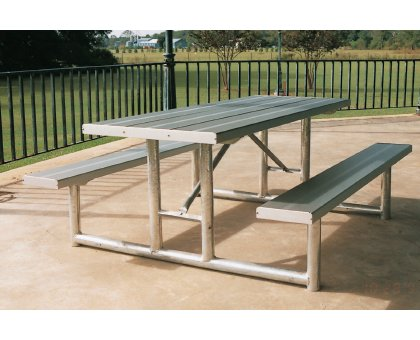 picnic tables aluminum picnic tables steel picnic tables steel picnic table frames - Metal Picnic Table Frame