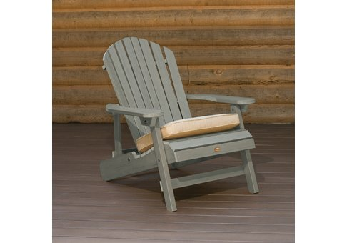 highwood® Folding & Reclining KING SIZE Adirondack Chair;  Recycled eco-friendly synthetic wood in c