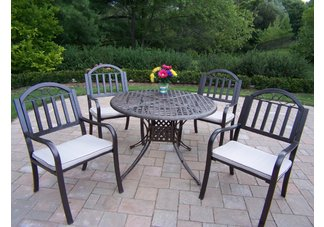 Elite Rochester 5pc Dining Set with Cushions