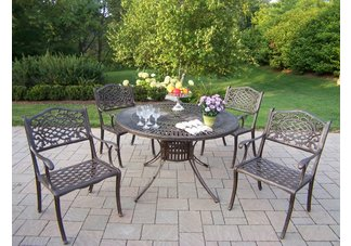 Sunray Mississippi 5pc Dining Set Antique Bronze