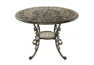Mississippi 42 Inch Dining Table Antique Pewter