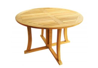 teak table, tables, drop leaf table, folding, round