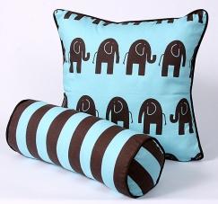 CushionSource.com Elephant Kelso Stripe Set