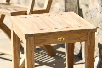 Square Teak Side Table