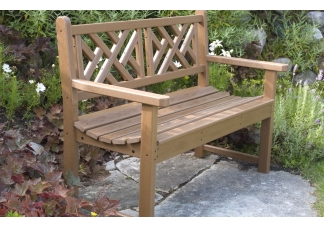 Chippendale Teak Bench