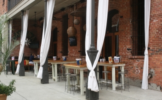 Outdoor Drapes from OutdoorDrapes.com for Cantina Restaurant, Montgomery, AL