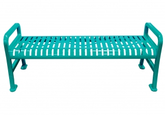 backless diamond pattern bench