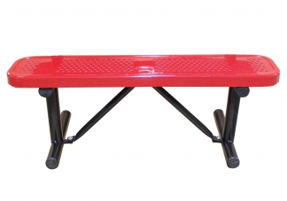 Perforated Backless In-Ground Bench