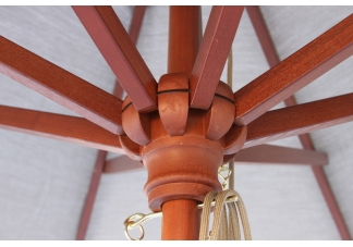 Elegant Commercial Wood Umbrella Frame