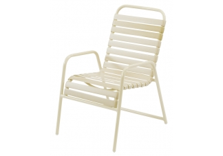 Country Club Strap Dining Arm Chair