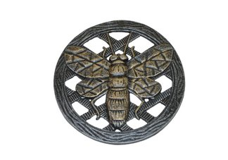 Cast Aluminum Stepping Stone Bee