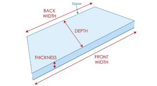 Trapezoid Cushion Measurement Guide