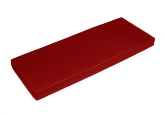 Sunbrella Jockey Red Bench Cushion