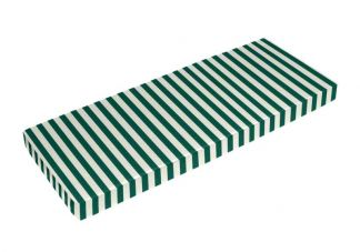 Sunbrella Mason Forest Green Bench Cushion