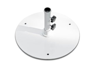 50 lb White Steel Base Umbrella Stand