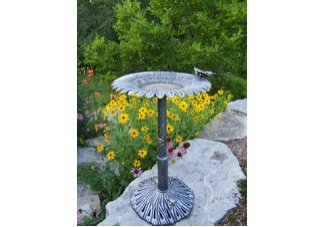 Sunflower Butterfly Bird Bath