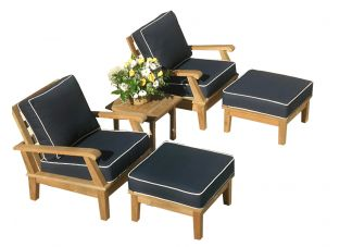 5-Piece Miami Deep Seating Teak Patio Set