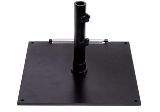 75 lb. Black Square Steel Base Umbrella Stand