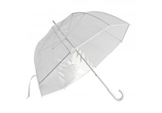 Clear Golf Bubble Umbrella - White Trim