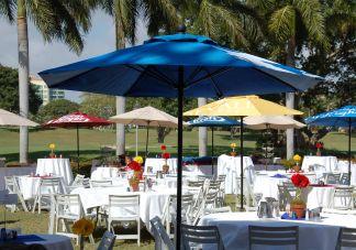 Kraft logo umbrellas