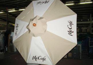 McCafe logo umbrellas
