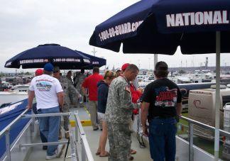 National Guard logo umbrellas