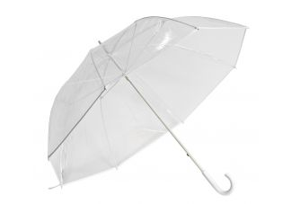 Clear Golf Umbrella - White Trim