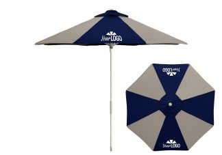 8 Panel Logo Market Umbrella Pop up