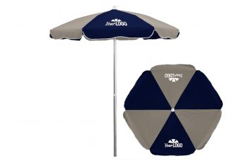 6 Panel Patio Umbrella Logo