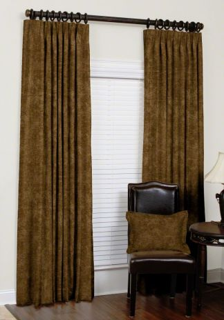 Custom Euro Pleat Velvet Drapes