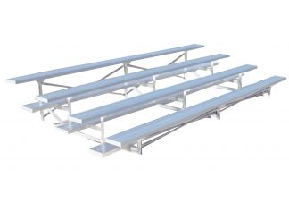 Commercial Park 15 Outdoor Bleachers - Portable, Aluminum