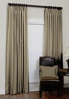 custom euro pleat silk drapes