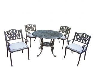 Mississippi Tulip 5pc Dining Set with Cushions