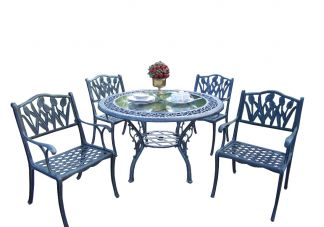 Mississippi Glass Top Tulip 5pc Dining Set
