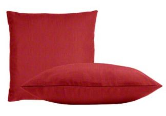 Sunbrella Dupione Crimson Pillow Set