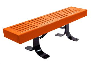 4 ft slatted commercial park bench