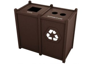 Recycled Plastic Top Opening Waste and Recycling Station
