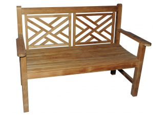 Teak Chippendale Bench 4