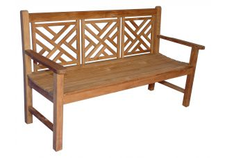 Teak Chippendale Bench 5