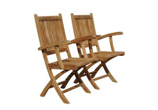 Teak Rockport Chair with Arms