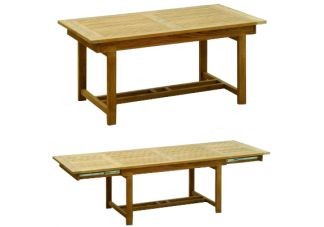 Teak Rectangular Double Extension Table