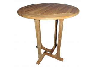 "Teak Bar Table 36"" diameter"