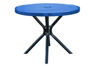 Round Expanded Metal Canteen Table