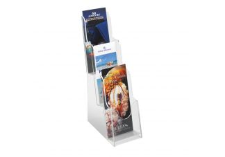 ClearAcrylic 3 Pocket Pamphlet Display