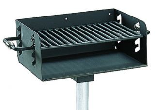 Commercial Park Rotating Grill w/ Post- Black