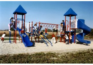 35 Child Playground Equipment System